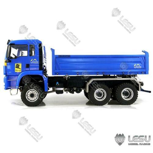 LESU MAN TGS 3 оси Трёхстороннее направление 6x6 самосвал 1/14 RC гидравлическая модель TH16711 SMT2 Радиоуправляемые грузовики      АлиЭкспресс