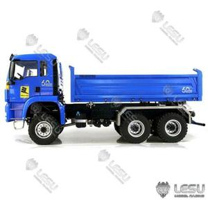 LESU MAN TGS 3 Axles Three-way Direction 6x6 Dumper Truck 1/14 RC Hydraulic Model TH16711-SMT2