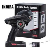 INJORA-transmisor de Radio Digital con Control remoto, 6 CANALES, 2,4 GHz, receptor de giroscopio, para coche, barco, depósito oruga TRX4 SCX10, 1/8, 1/10
