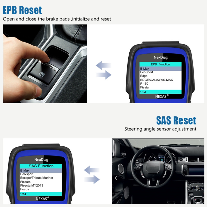 Wireless OBD2 Code Reader for Ford S-Max Scanner Engine Light Clear