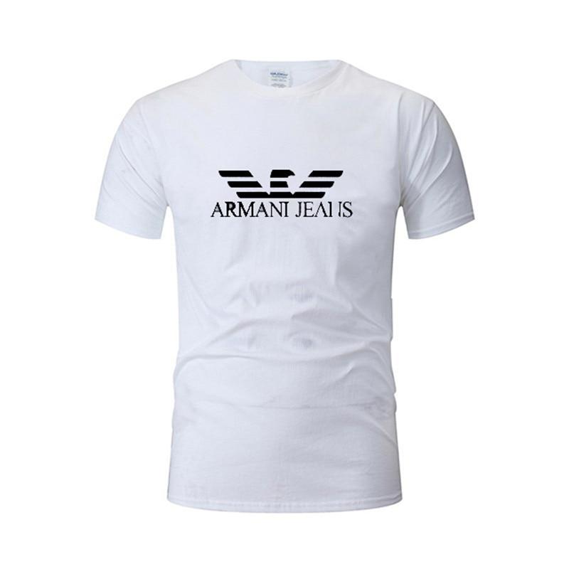 2021 marke männer T-shirt Mode Oansatz Top Reiner Baumwolle Kleidung Kurzarm Hohe Qualität Sommer Kleidung Gedruckt Weiß T-shirt
