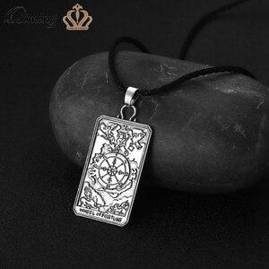 Колесо Фортуны Таро карты, ожерелье для мужчин и женщин Lucky гадалка языческие украшения Шейное колье с подвеской