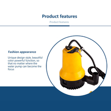 Bilge Pump, 12V 24V Micro- Dc Immersible Submersible Agricultural Irrigation Portable Electric Water Removal Pump