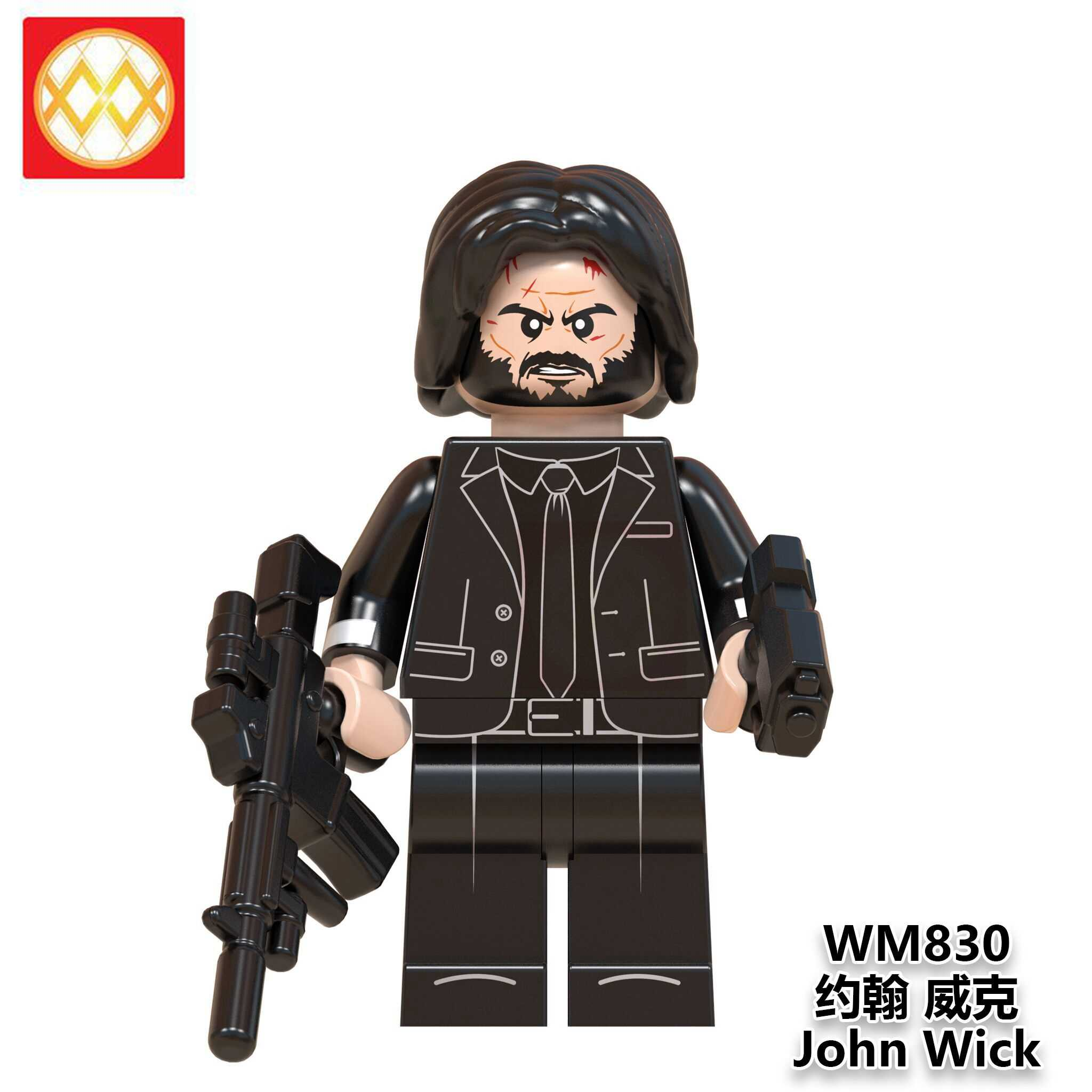 Free Shipping WM830 Building Blocks John Wick House of Paper Stranger Things Doctor Who Money Heist Movie God Father Kids Toys
