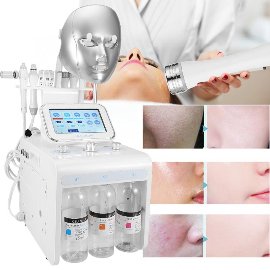 8 In 1 Oxygen Injection Machine Skin Care Spray Water Jet RF Spray To Enhance Facial Moisturizing High Frequency Beauty Tools