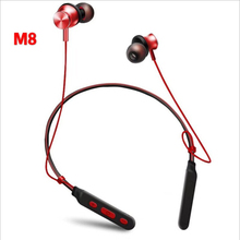 BT M8 Wireless Headset Sport Bluetooth Headphone Neckband Magnetic Bass Headset Handfree