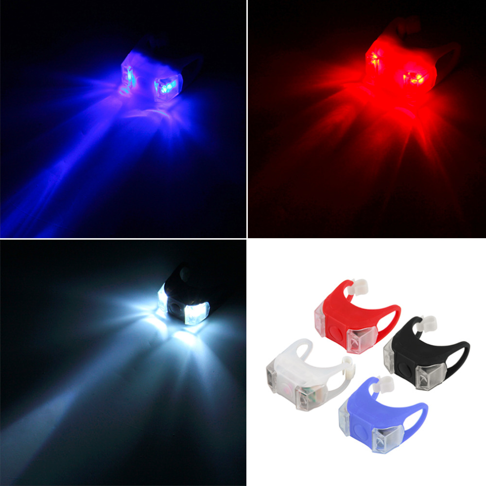 1Pcs Bike Bicycle MTB LED Head Front Lamp Warning Rear Flash Light Promotion