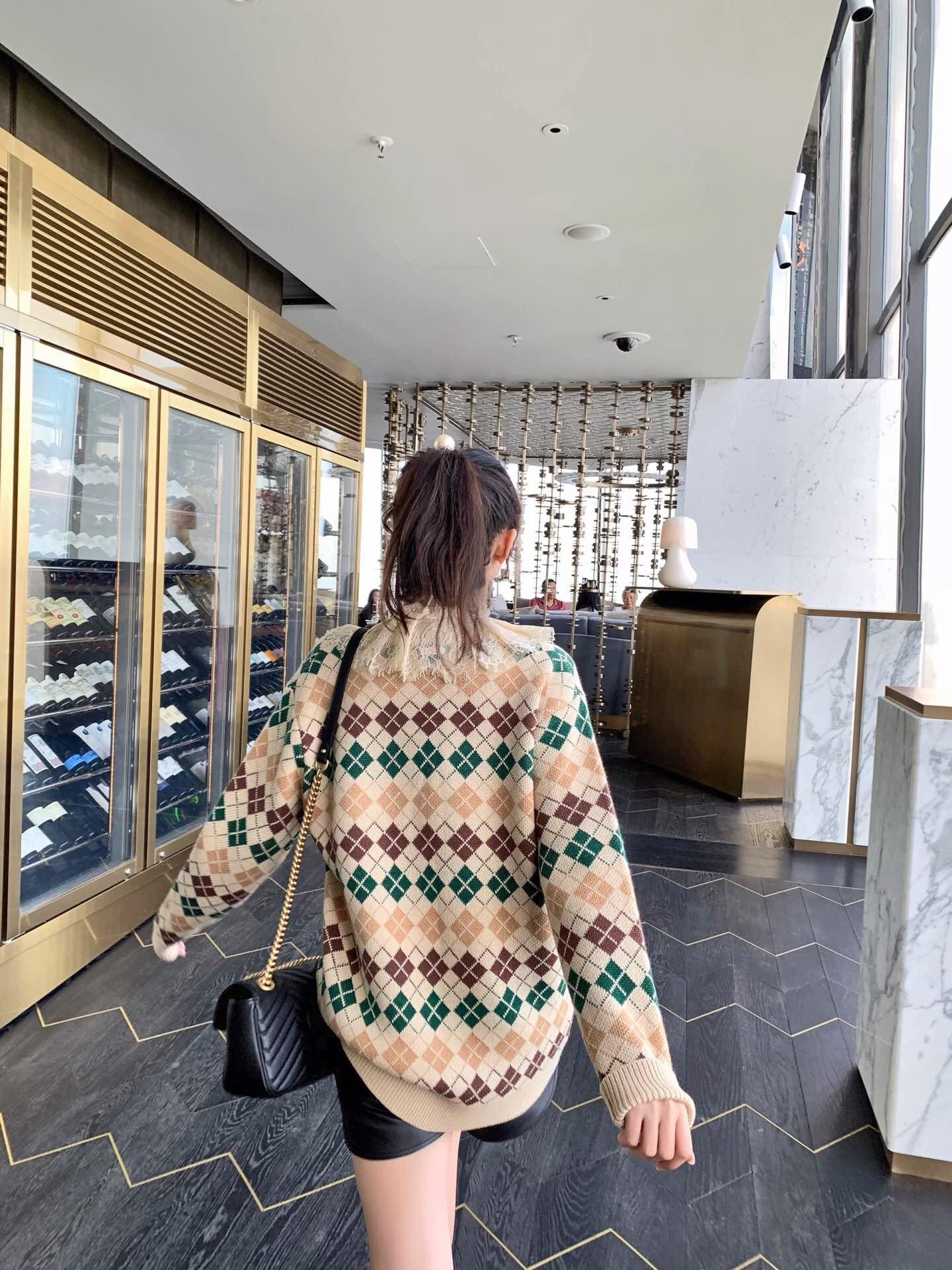 2019 neue Casual Herbst und Winter V ausschnitt Klassische Rot & Grün Weihnachten Pullover Frauen Pullover - 6