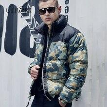 Gersri Men Thicken Warm Camo Parkas Winter Jacket Hooded Long Sleeve Jaqueta Masculina for men