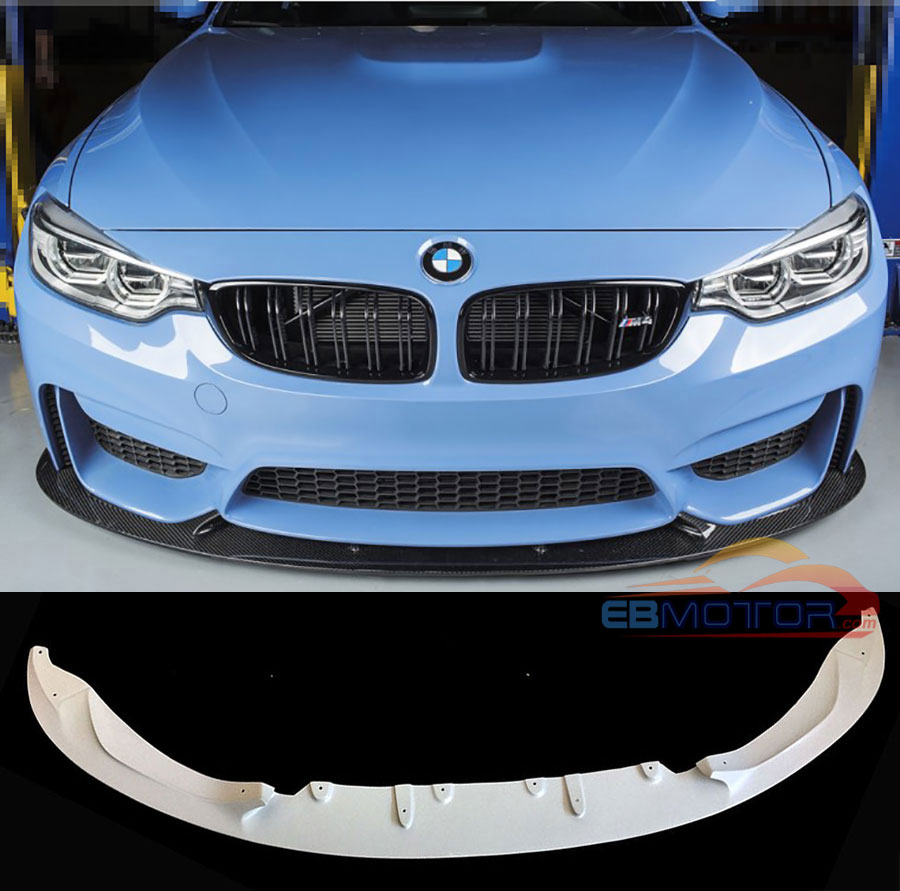 UNPAINTED 3D Style Front Lip Spoiler For BMW F80 M3 F82 F83 M4 2014UP B379F image