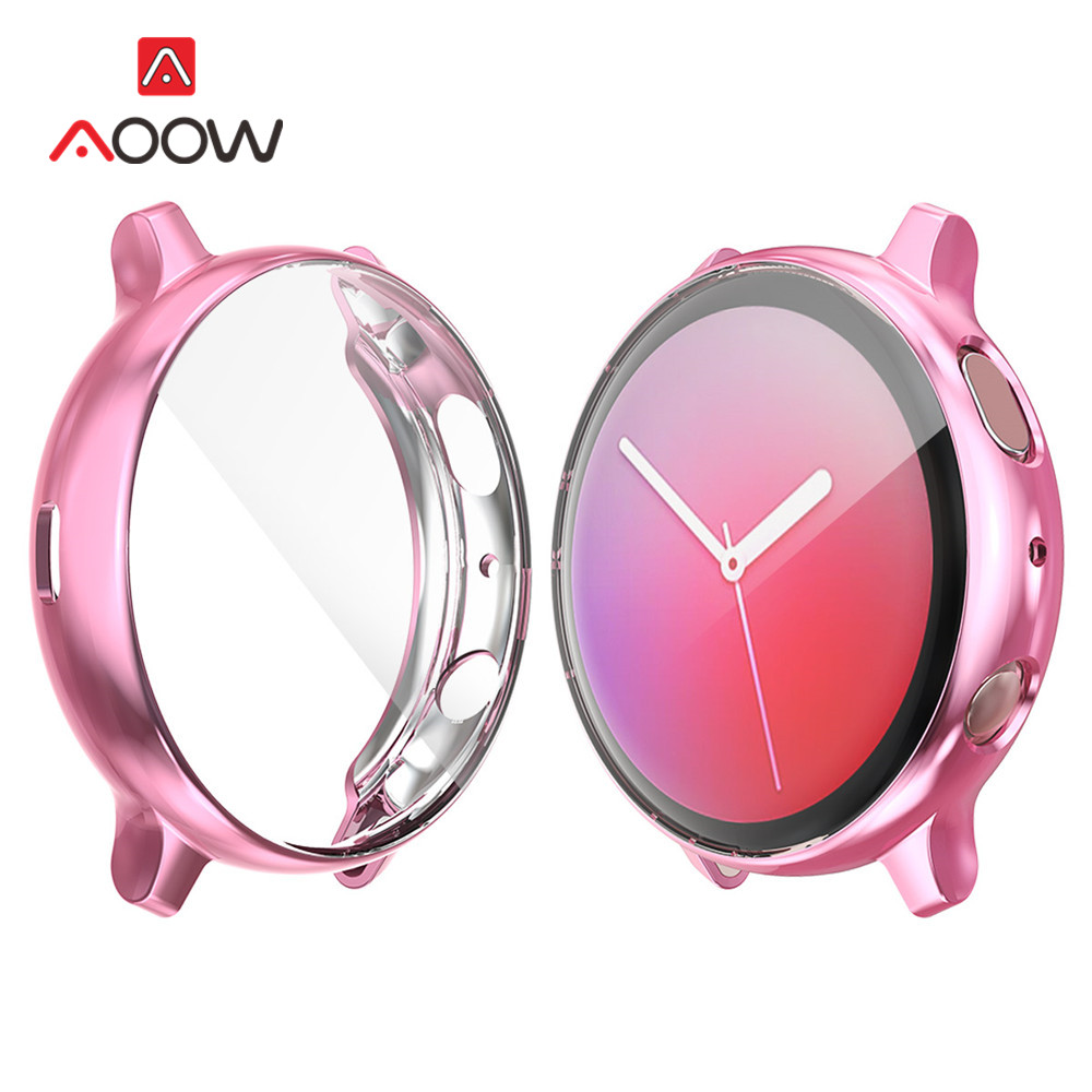 Screen Protective Case For Samsung Galaxy Watch Active 2 40mm 44mm R820 R830 Active2 Ultra-Thin Full Cover Protector Shell Frame