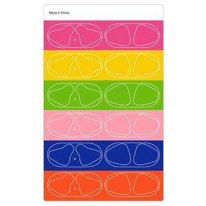 Image 2 - 6 זוגות צבעוני מגן מדבקת מקרה אבק הוכחה אבק משמר עבור אפל Airpods אוזניות טעינת תיבה