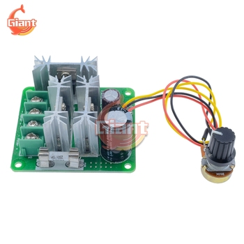15A DC 6V-90V DC Motor Speed Controller Stepless Speed Regulation Pulse Width PWM DC 12V 24V 36V 48V 1000W with Switch Module image
