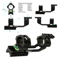 ohhunt 11mm 3/8 Dovetail 20mm Picatinny Weaver Riflescope Rings Hunting 25.4mm 30mm Offset Scope Mount Rail Bubble Level