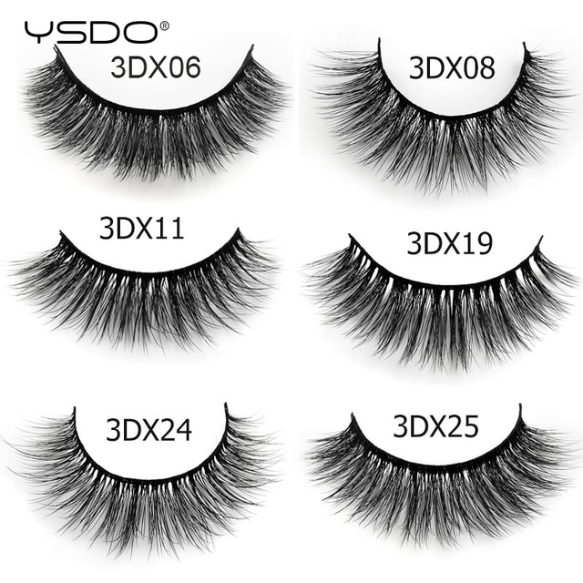 3 Pairs mink false eyelashes natural long 3d mink lashes fluffy wispy fake lashes thick cilios makeup eyelash extension tools 2