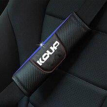 For Kia Cerato Forte Koup 2pcs Fashion Carbon Fiber Leather Car Seat Belt Cover Car Seat Belt Shoulder Pad Car Accessories