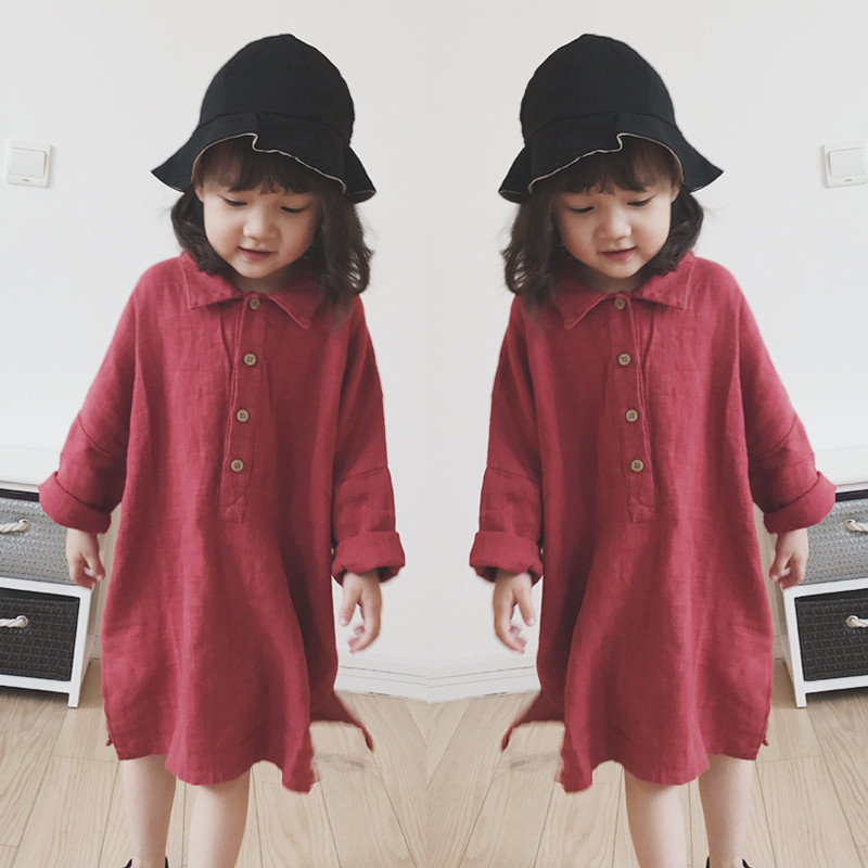 Dress Girl Child Costume Long Sleeve Autumn Casual Loose Dreses Kids Fall Vestido Girls Clothes 2 3 4 <font><b>5</b></font> 6 7 Years Old image