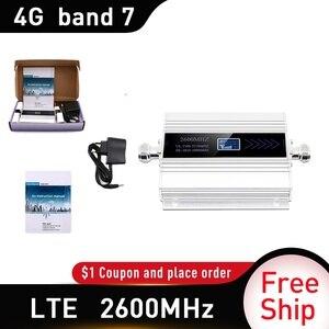Image 2 - 4G LTE DCS 2600 MHz Moblie Điện Thoại Booster 2600 Lặp Tín Hiệu Tăng 65dB Mạng 4G Di Động Khuếch Đại 5dBi roi Ăng Ten Trong Nhà