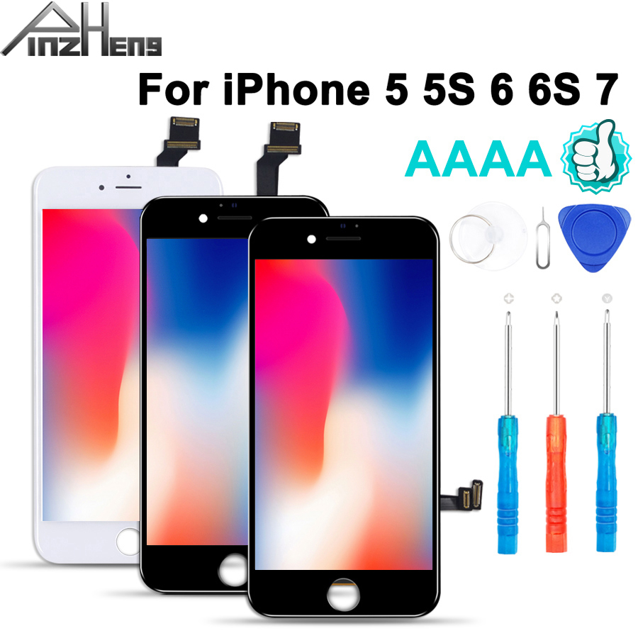 2019 100% AAAA 3D Touch Screen <font><b>Original</b></font> <font><b>LCD</b></font> For <font><b>iPhone</b></font> 7 6 6s <font><b>5s</b></font> 5 <font><b>LCD</b></font> Display Digitizer No Dead Pixel Touch Replacement Screen image