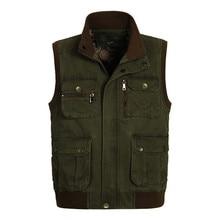 ICPANS คลาสสิกผู้ชายเสื้อกั๊กหลายกระเป๋า 2019 ชายช่างภาพทำงานแขนเสื้อแจ็คเก็ตหลายกระเป๋าเสื้อกั๊ก Plus ขนาด