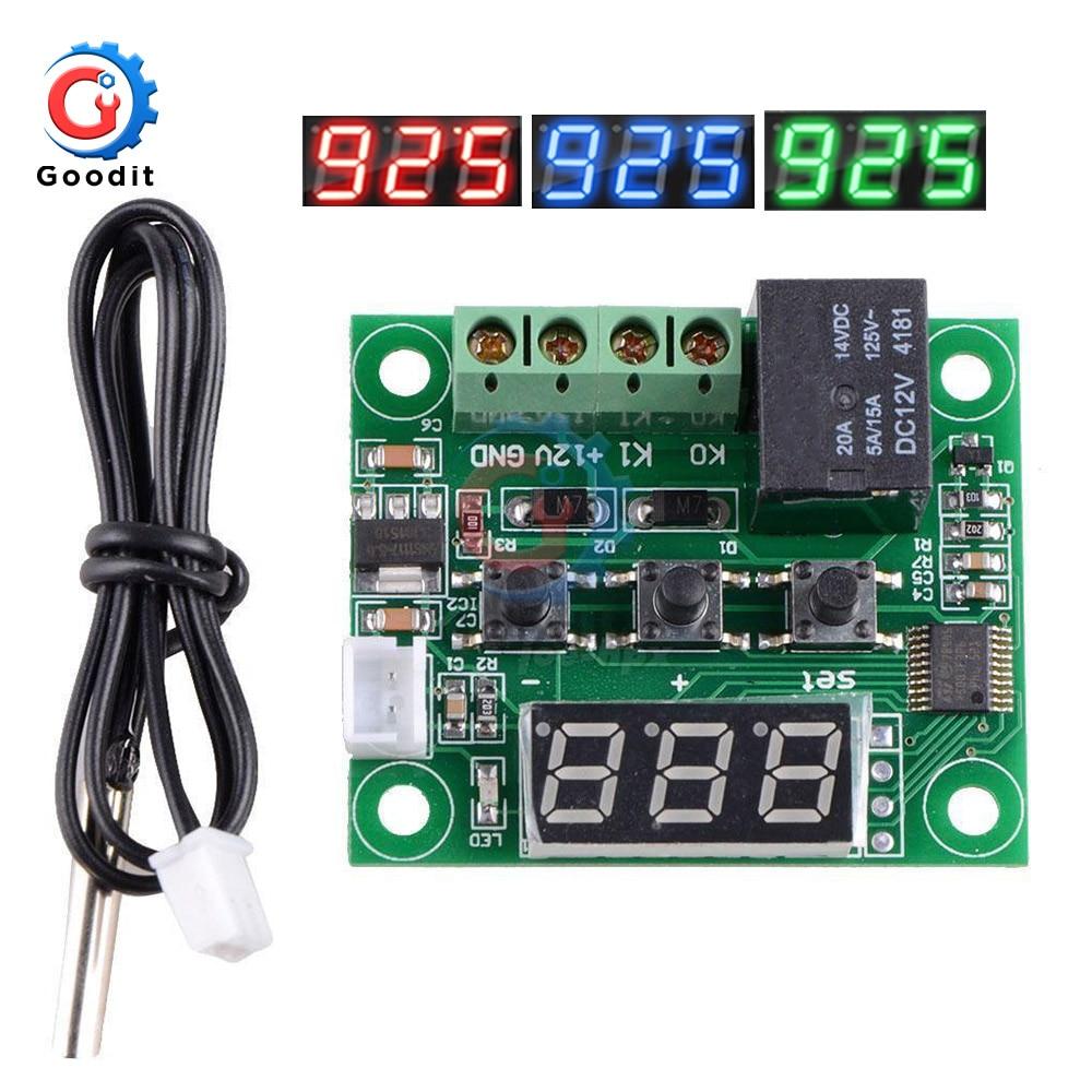 12V Digital Heat Cool Temp Thermostat Temperature Control Switch Relay Sensor