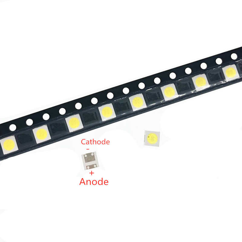 50pcs Diodes TV Backlight <font><b>1W</b></font> <font><b>3V</b></font> 3535 <font><b>SMD</b></font> <font><b>LED</b></font> Televisao Cold White 100lm 3535 3537 Cool White Backlit LCD Backlight for TV Repair image