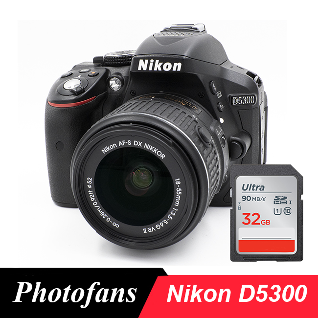 Nikon D5300 DSLR Kamera mit 18-55mm Objektiv-WIFI -Video