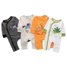 Brand New Hot Sale Newborn Infant Baby Boy Girl Cartoon Animal Cotton Romper Jumpsuit Clothes Infant Baby Clothes 3-24 Month недорого