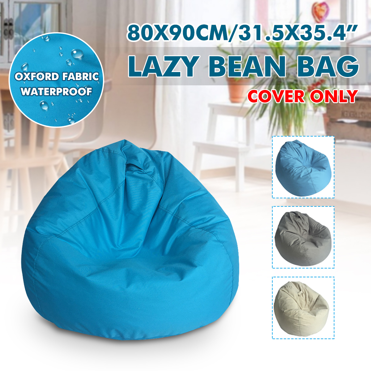 Bean Bag Sofa Cover Lounger Chair Sofa Ottoman Seat Living Room Furniture Without Filler Beanbag Bed Pouf Puff Couch Tatam