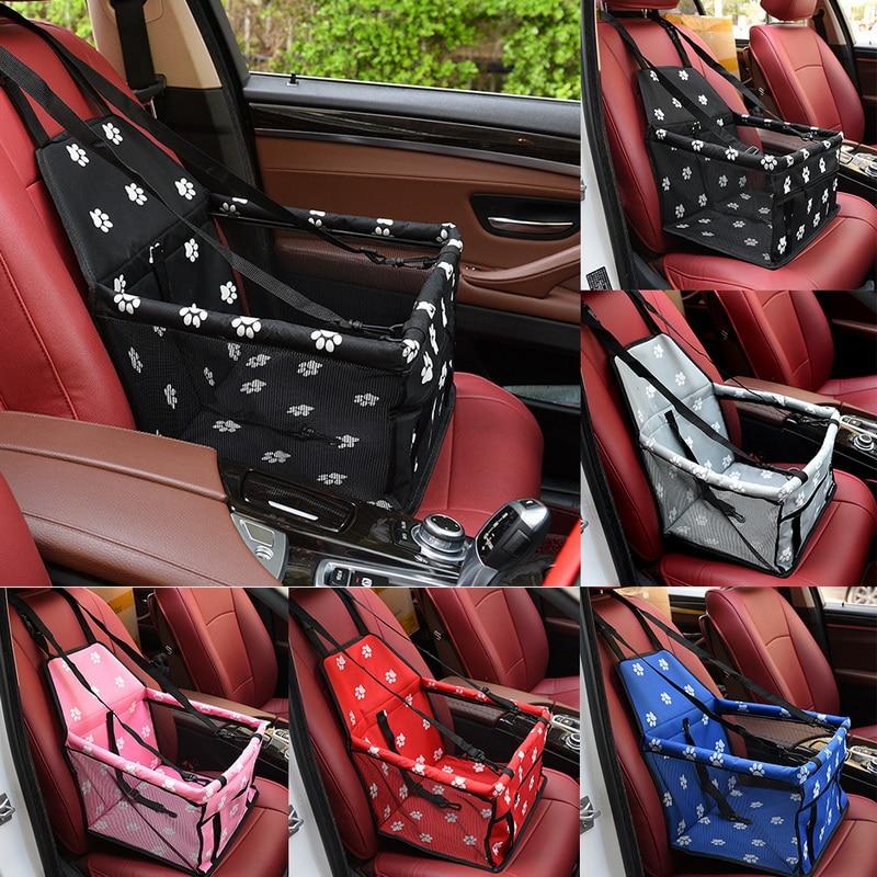 Waterproof Pet Dog Car Seat Cover Travel Dog Carrier Outdoor Safe Dog Car Seat Basket Cat Puppy Bag Travel Mesh Hanging Bags 2