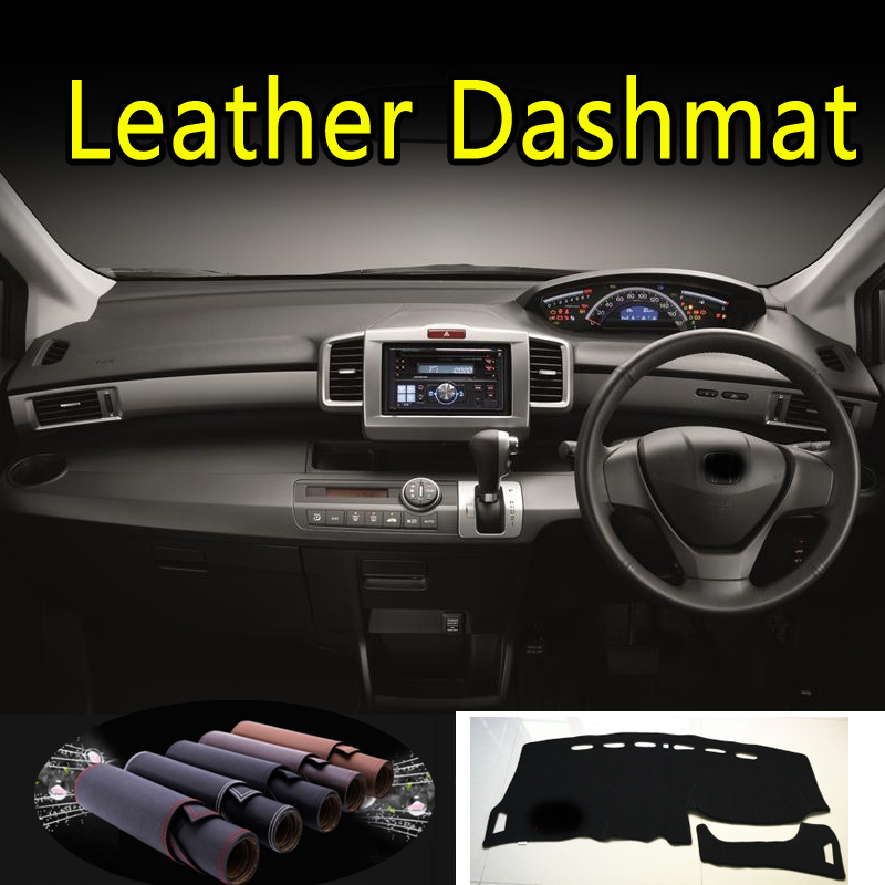 For Honda Freed GB3 GB4 GP3 2008 - 2016 Leather Dashmat Dashboard Cover Dash Mat Sunshade Carpet Car Styling Auto Accessories
