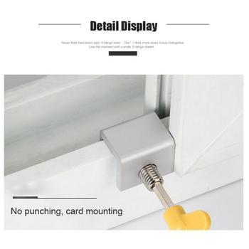 1pc blokada okna drzwi ogranicznik aluminiowe drzwi przesuwne blokada antykradzieżowa okno bezpieczeństwa dla dzieci kabel blokada krańcowa blokada klucza bezpieczeństwa tanie i dobre opinie 1* Window Lock Aluminium