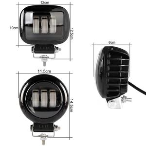 Image 2 - 6D lentille 5 pouces rond carré Led lumière de travail 12V pour voiture 4WD ATV SUV UTV camions 4x4 Offroad moto Auto travail conduite lumières
