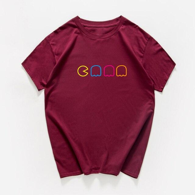 Pac-Man Video Game Sarcastic Novelty Men Funny T Shirt game fan 100% cotton loose streetwear hip-hop tshirt men summer harajuku 2