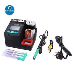 Jabe UD-1200, estación de soldadura de hierro sin plomo, herramienta de soldadura BGA PCB para teléfono móvil 2.5S, calentamiento rápido, estación de soldadura de doble canal