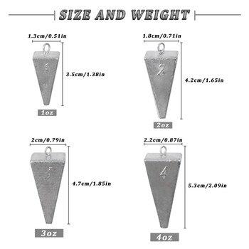 משקולות פרמידה לדיג, משקל עד 40 OZ