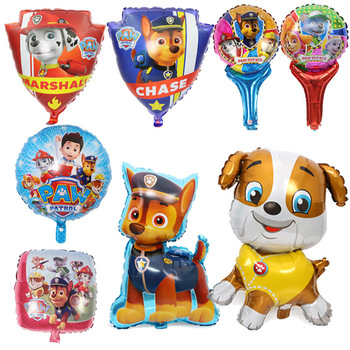 Paw Patrol Birthday Decoration Figure Toys Paw Patrol Balloon Toys Party Room Decor Chase Marshall Ballon Kids Girls Toy