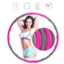 Съемный пенопластовый обруч для йоги, упражнений на талию, для похудения, гимнастическое кольцо, регулируемый размер, легко установить, прочный женский