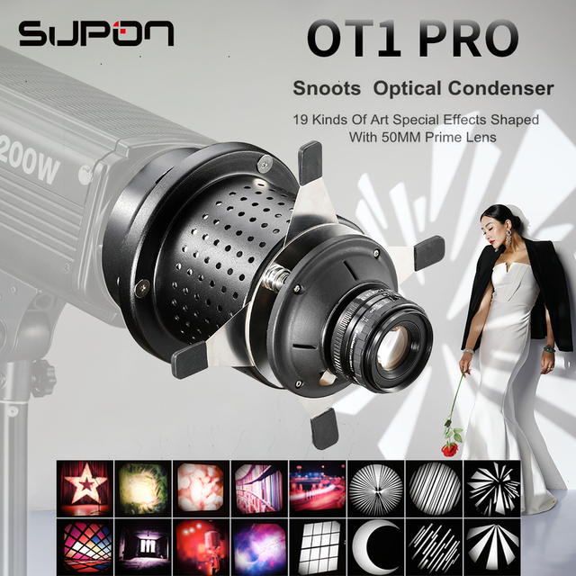 OT1 PRO Focalize Conical Snoot Photo Optical Condenser Art Special Effects Background Shaped Beam Light Cylinder for Photography
