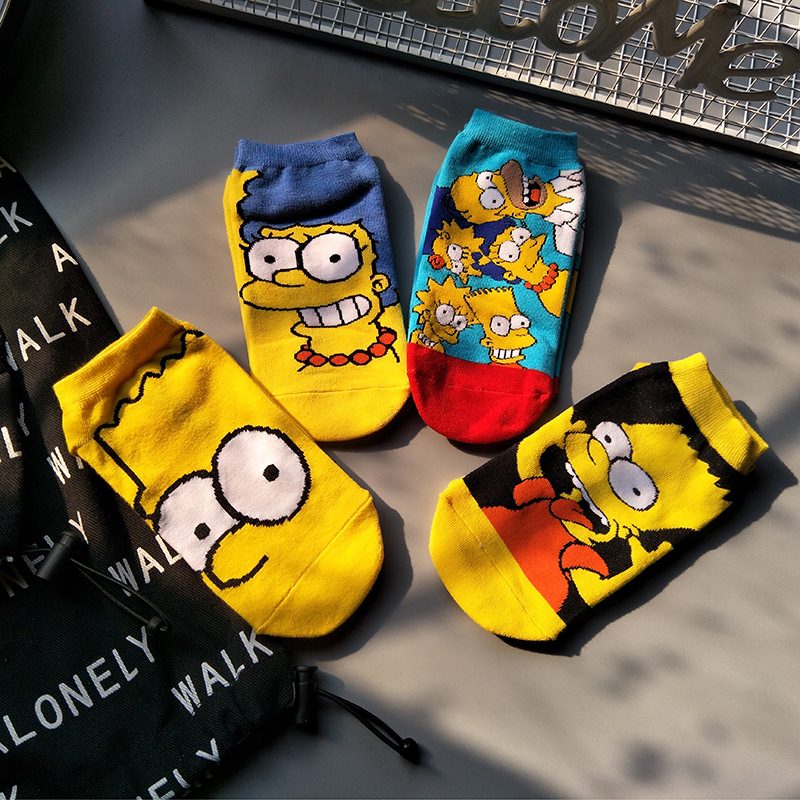 4pair Cartoon Short Sneaker Boy Socks Children Girl Teenagers Girls Winter Boys Boat Sock Cartoon Student Socks Cartoon