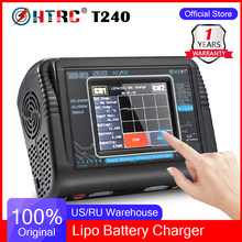 Original HTRC T240 Duo Lipo Charger Discharger Dual Channel AC 150W DC 240W Touch Screen Balance RC Charger For RC Model Car Toy