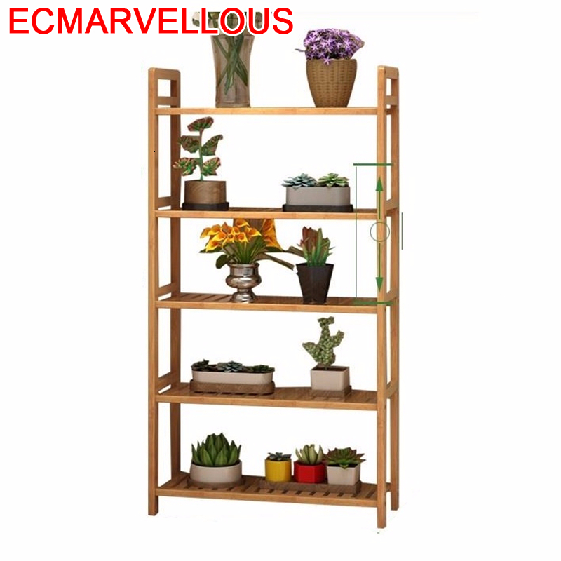 Repisa Para Plantas Plantenrekken Rack Indoor Pot Wood Balkon For Dekoration Stojak Na Kwiaty Balcony Flower Shelf Plant Stand