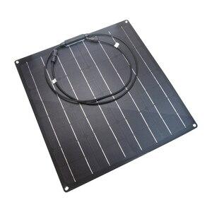 Image 3 - 中国工場出荷時の価格 50 ワットソーラーパネル単結晶柔軟なソーラーパネル etfe 50 ワットモノラル太陽電池ソーラーキット 12 12v バッテリー充電器