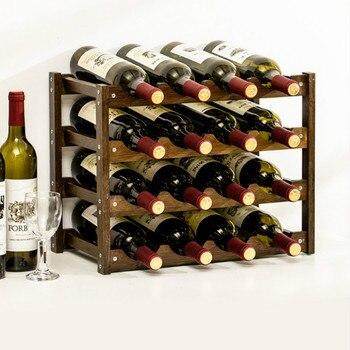 Wine Holder Household Bamboo Wine Rack Whisky Champagne Bottle Holder Creative Bar Whisky Bottle Shelf Quality Botellero De Vino