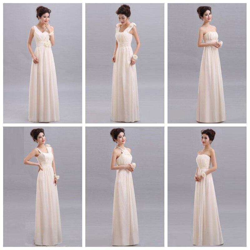 Wedding Cheap Long Chiffon Blush Pink Bridesmaid Dresses 2019 A-Line Vestido De Festa De Casamen Formal Party Prom Dresses