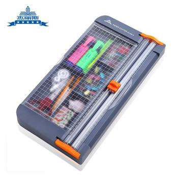 New Multi-function box paper cutter A4 paper cutter paper cutter slide knife push knife cutter purple stationery bag pencil case