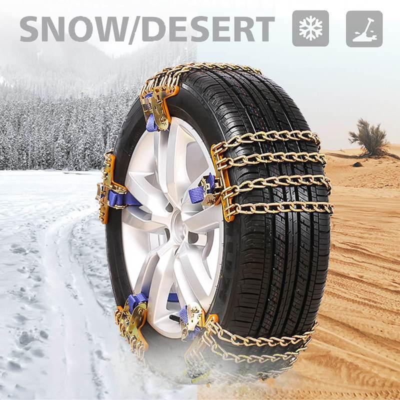 4 Chains Balance Design Truck Car Wheels Tyre Tire Snow Ice Chains Belt Winter Anti-skid SUV Wheel Chain Mud Road Safe Safety