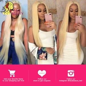 Image 5 - Facebeauty 613 Blonde 1/3/4 Brasilianische Haar Bündel Gerade Webart Remy Menschenhaar Schuss 26 28 30 32 34 36 38 40 zoll Freies Verschiffen