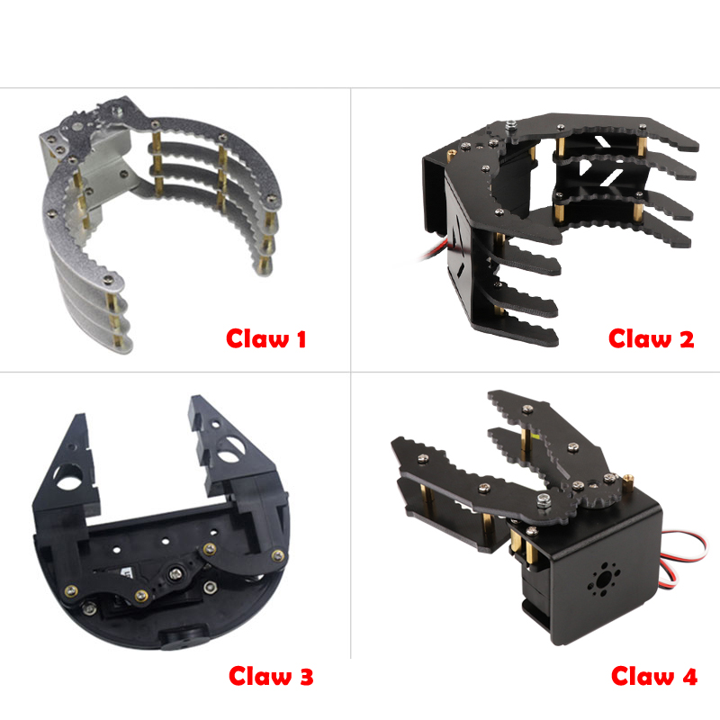 High Quality Mechanical Claws Grippers Robot Mechanical Arms With 180 Degree Servos For Arduino DIY Programming STEM Toy Parts