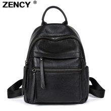 ZENCY Soft 100% Genuine Cow Leather Black Hardware Women's Backpacks